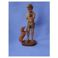 1950s  Anri boy & Dachshund Germany