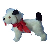 antique Fripon fur  Fox terrier salon dog  for French fashion doll Germany label
