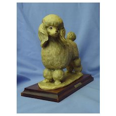"""1983 Armani tea cup toy Poodle 9"""" Italy"""