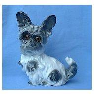"Skye Silky Terrier Briard dog vintage perfume lamp Bavaria 8"""