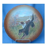 """10"""" RK Beck plate Foxhound  German pointer hunting dogs signed"""