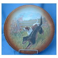 "10"" RK Beck plate Foxhound  German pointer hunting dogs signed"