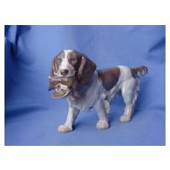 1960s English setter  Springer spaniel Bing & Grondahl 10""