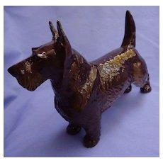 """Nymphenburg Scottish terrier black Scotty dog Germany 9"""""""