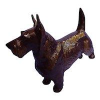 """Nymphenburg 9"""" Scottish terrier black grey Scotty dog Germany"""