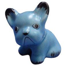 """Sylvac blue French bulldog 4"""" England"""