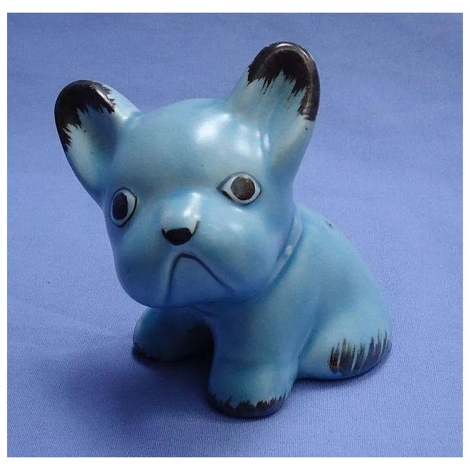 Sylvac Blue French Bulldog 4 Quot England Morning Line