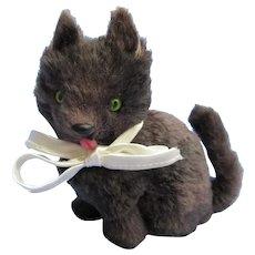 """black fur cat Bru Kestner Jumeau AMERICAN GIRL fashion doll companion Germany 5"""""""