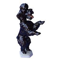 """Rosenthal black poodle Germany dog 8"""""""