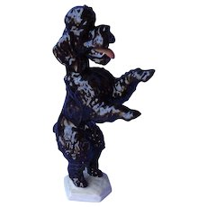 Rosenthal black poodle Germany dog 8""