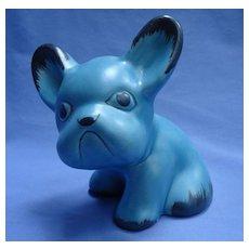 """Sylvac blue French bulldog England 8"""""""
