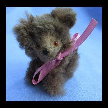 "Vintage brown fur bear Bru Jumeau Kestner companion Germany 3"""