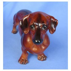 "1950 Dachshund Boehm 10"" male dog"