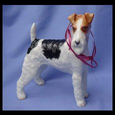 """8"""" Wire haired Fox terrier Boehm 1950 dog  LE 1/150"""