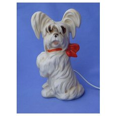 "Skye Silky terrier Briard dog Goebel Germany art deco Bosse design perfume lamp 7"""