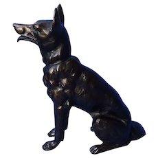 """German Shepherd Alsatian Malinois dog art deco bronze 9"""""""