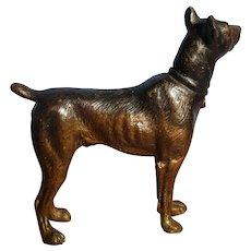 bronze Doberman Pinscher dog Austria on marble card tray