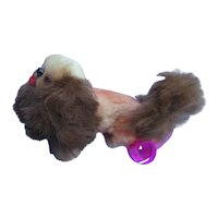 "antique fur Pekingese  salon dog French fashion doll companion Germany label 3"""