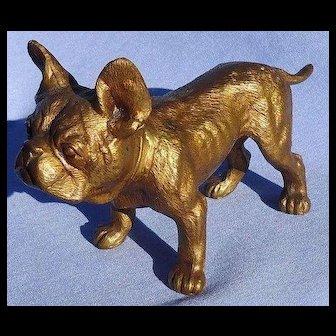 "bronze French Bulldog 5"" dog"