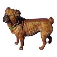 """bronze PUG Vienna Austria 3"""" dog"""