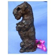 """bronze Sealyham Cesky terrier Baldwin 4"""" LE dog"""