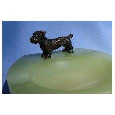 bronze Sealyham Cesky terrier ring tray Vienna Austria