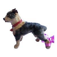 "antique BOSTON TERRIER salon dog French fashion doll companion Germany label 3"""