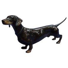 "Black tan Dachshund dog Rosenthal Germany 6"""