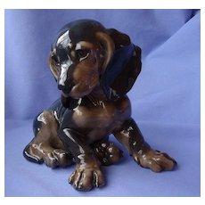 "1950 black/tan Dachshund Rosenthal Germany Karner dog 7"""