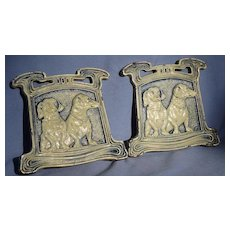 Dachshund dog cast iron bookends JUDD 9780
