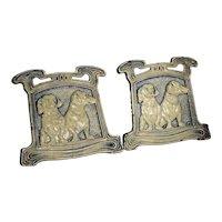 Dachshund dog cast iron bookends JUDD 9780