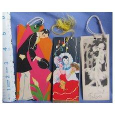 art deco lady Pierrot Borzoi bridge score cards (group5)