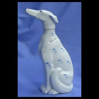 art deco Borzoi Goebel Germany dog decanter 9""