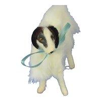 "Antique fur Borzoi 3"" salon dog Kestner Jumeau Bru French fashion doll companion Germany label"
