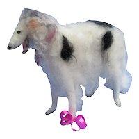 "BORZOI salon dog Bru Kestner Bleuette fashion doll companion Germany 7"""