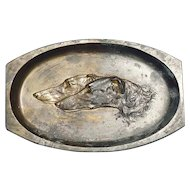 bronze Borzoi tray Germany 5""