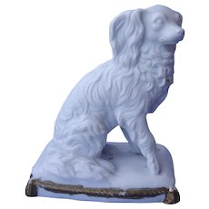 antique Cavalier King Charles spaniel Parian  5""