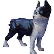 "authentic Hubley cast iron Boston terrier bank 7"""