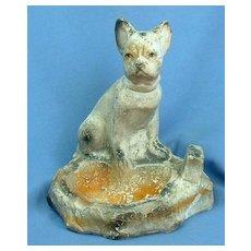 """1930s circus FRENCH BULLDOG Boston Terrier ashtray 6"""""""