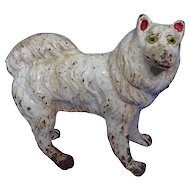 Spitz Samoyed cast iron door stop 9""