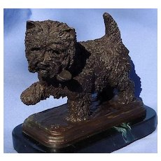 "bronze Cairn Norwich West Highland terrier Baldwin dog 6"" #11/50"