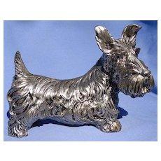 """Scottish terrier silver SCOTTY dog 7"""""""