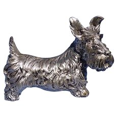 Scottish terrier silver SCOTTY dog 7""