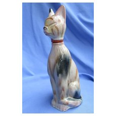 "art deco Siamese cat 9"" decanter Germany"