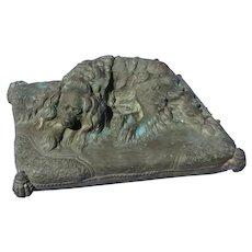 "bronze Cavalier King Charles spaniel E FREMIET 6"" dog"