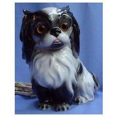 "Cavalier King Charles Spaniel Japanese Chin 8"" dog perfume lamp  night light Germany"