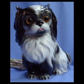 "Cavalier King Charles Spaniel Japanese Chin 8"" dog perfume lamp  night light Germany"
