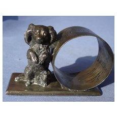 Cavalier King Charles spaniel silver plt dog napkin ring