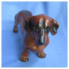 "10"" Dachshund male dog Boehm 1950s limited edition"