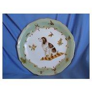 """St Saint Bernard puppy plate 10"""""""